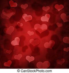 Valentine design with heart bokeh