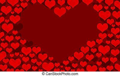hearts border frame