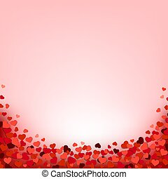 Hearts Border With Pink Background