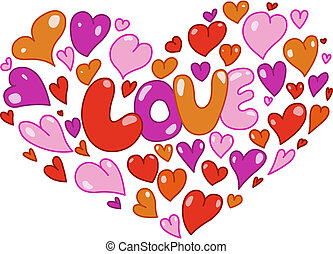 Hearts card - Love card with hearts