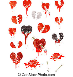 hearts cartoon collection