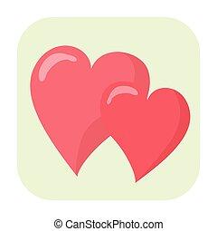 Hearts cartoon icon