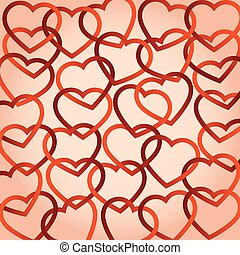 hearts connected. vector background