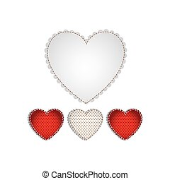 hearts design background icon