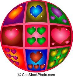 Hearts design.