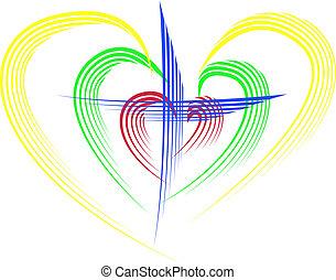 hearts - Cross in the hearts