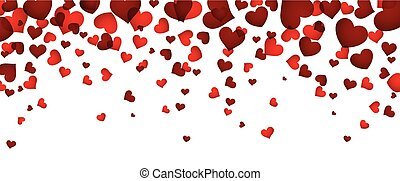 hearts., fond, rouges