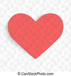 hearts., fondo, rosso