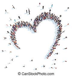 hearts., forma, gente