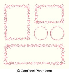 Hearts frame for your Valentines Day greeting card design.