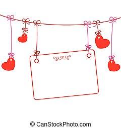 Hearts Frame Line