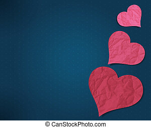 Hearts from old paper