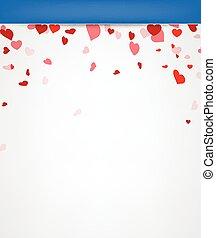 hearts., fundo, valentine