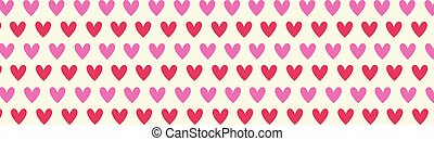 Hearts Horizontal Banner Valentine Day Holiday Background Decoration Poster