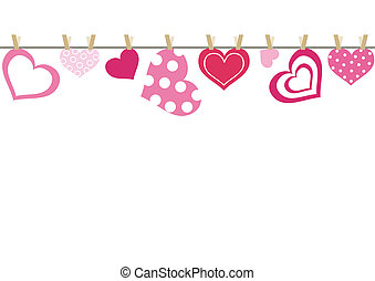 Hearts - abstract background with heart
