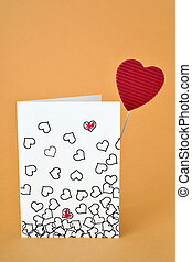 hearts in a postcard