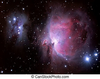 Hearts in Heaven - Orion Nebula detail. 44 stacked omages...