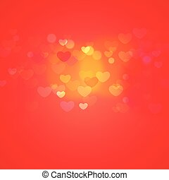 hearts in red light