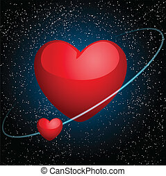 hearts in space