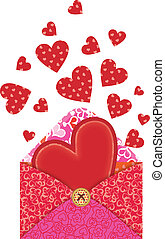 Hearts in the envelope