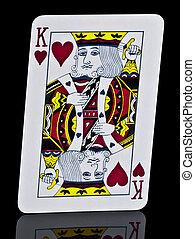 Hearts King Playing Card