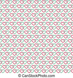 Hearts linked background. Seamless for your St Valentine designs. Vector illustration