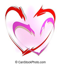 Hearts Linked in Love - Hearts linked together in the warmth...