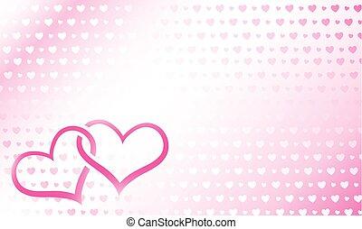 Hearts linked vector illustration