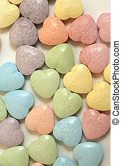 hearts multicolor - multicolor conversational candy hearts