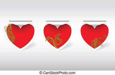 Hearts of gold ornaments