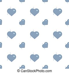 Hearts Of Love In Blue Seamless Pattern