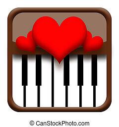 Hearts on piano