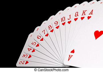cards on row