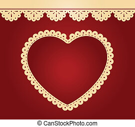 Hearts on the background