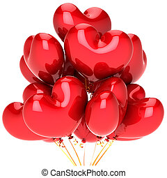 Hearts party balloons