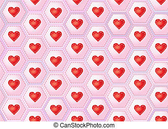 Hearts patchwork