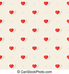 Hearts Pattern Vector.