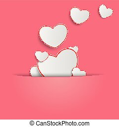 Hearts Pink Background