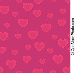 Hearts pink background seamless pattern