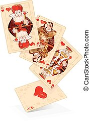 Hearts play cards - Illustration of Hearts plays cards