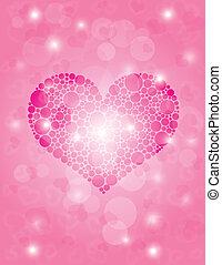 Hearts Polka Dot Bokeh Background