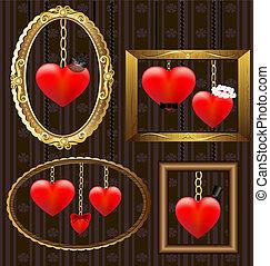 hearts portrait frames