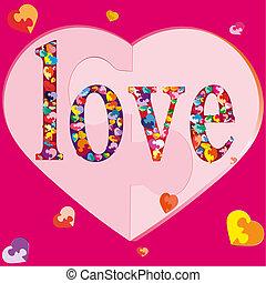 hearts-puzzles, Símbolo,  many-coloured