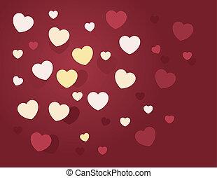 Hearts Random - Randomly hearts scattered in various sizes...