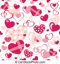 Hearts - Seamless Pattern - Vector seamless pattern...