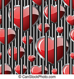 Hearts seamless background - vector pattern for continuous replicate. See more seamless backgrounds in my portfolio.