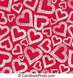 Hearts seamless pattern, Valentine theme seamless background, ve