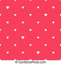 Hearts seamless polka dot pattern.
