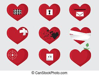 Hearts - Set of hearts