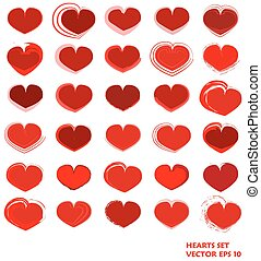 Hearts Set. Vector EPS 10.